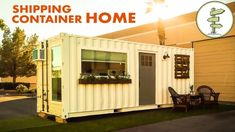 Tony Lopez and Chris Buonaiuto created this beautiful, functional, affordable (and tiny!) house in a used x shipping container. To see more of Tony and Chris' lovely tiny homes, check out their w Container Homes For Sale, Cargo Container Homes, Storage Container Homes, Building A Container Home, Container House Design, Small Shipping Containers, 20ft Shipping Container, Shipping Container Home Designs, Shipping Container Interior