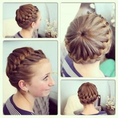 Starburst Crown Braid | Updo Hairstyles    I know Joey won't hold still for this yet... but for when she gets a bit older!
