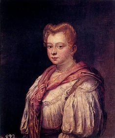 16-Dama veneziana di Marietta Robusti figlia di Jacopo Robusti meglio conosciuto come Tintoretto