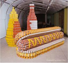 Canned #FoodArt >> Hotdog, Bun, Condiments
