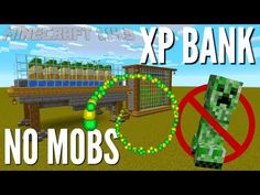 You want XP but you don't want it RIGHT NOW in case you die, and you don't want to GRIND. This Minecraft XP Farm will bank your XP for when you need it. Minecraft Kingdom, Minecraft Farm, Easy Minecraft Houses, Minecraft Plans, Minecraft Decorations, Minecraft Construction, Amazing Minecraft, Minecraft Tutorial, Minecraft Designs