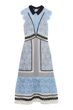 Wedding Guest Dresses: 40 You'll Actually Want To Wear Again And Again - Self-Portrait Guipure Lace Midi Dress, £204 from InStyle.com