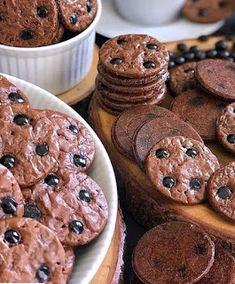 Brownie Cookies, Cake Cookies, Cooking Cookies, Easy Baking Recipes, Brownies, Muffin, Chips, Food And Drink, Snacks