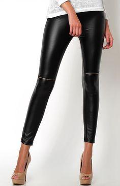 Jess legginsy skóra matowe - PIĘKNE NOGI, Sklep internetowy Angel.pl | Atrakcyjne ceny i wyprzedaże. Kup teraz |czarny - UNI