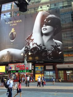 Lady Gaga in Times Square #NYC