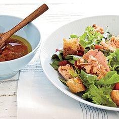 Grilled Salmon Salad with Salsa Dressing | Coastalliving.com