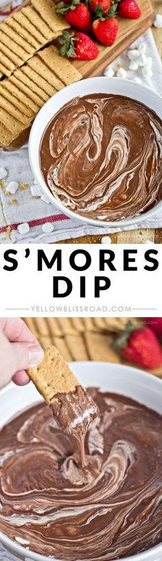 S'Mores Dip - A perfect summer treat for dipping graham crackers, fruit or pretzels!