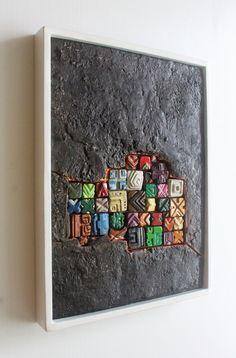 Art Concret, Concrete Art, Ceramic Wall Art, Wood Wall Art, Sculpture Clay, Wall Sculptures, 3d Wandplatten, Keramik Design, Clay Art Projects