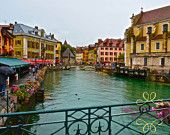 Instant Download, France, Annecy, Alps, Lake, Charming, Print, Digital, Home Decor, Photograph, Fine Art