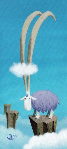"""Longest Horn"" by Pumml Botanical Illustration, Illustration Art, Winter Painting, Illustrations And Posters, Creature Design, Character Illustration, Cat Art, Painting Inspiration, Artwork"
