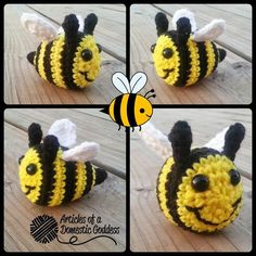 Baby bumblebee, free pattern by Donna Knox   . . . . ღTrish W ~ http://www.pinterest.com/trishw/ . . . . #crochet #bee