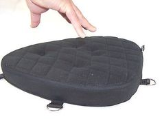 Motorcycle driver impact gel pad seat for harley davidson road glide models. Very easy to mount on the seat. Comfortable in any weather. You can strap it very easily and then remove it when not needed