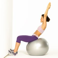 This quick stability ball abs workout routine will cinch your waist and tone your core fast!