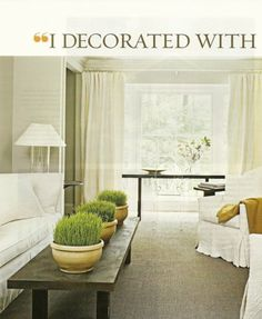 Decorating with grass.