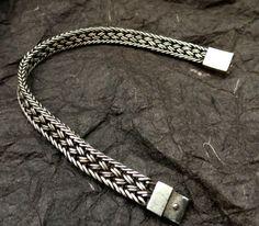 Sterling silver unisex bracelet wide by WideAwakeSpirit