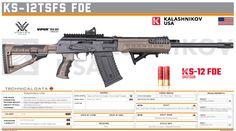Kalashnikov USA - KS-12TSFS FDE Shotguns, Firearms, Tactical Shotgun, Fire Powers, Custom Guns, Army Vehicles, Shooting Range, Big Guns, Assault Rifle