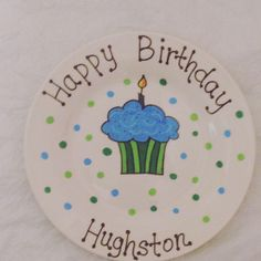 A personal favorite from my Etsy shop https://www.etsy.com/listing/268336224/happy-birthday-plate-personalized-plate