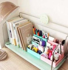 New DIY Paper Board Storage Box Desk Decor Stationery Makeup Cosmetic Organizer Diy Box Organizer, Desk Organization Diy, Diy Desk, Paper Storage, Diy Storage, Storage Ideas, Diy Tumblr, Diy Papier, My New Room