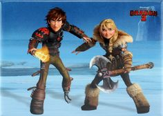 Hiccup with Astrid Magnet