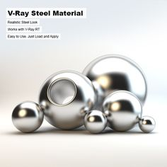 V-Ray Steel Material by arquitectostyles A simple Steel Material file made for Vray for Max. This can be used for small simple projects, or even large scale scenes. 3ds Max, Vray Tutorials, 3d Model Architecture, Steel Material, Easy Projects, 3d Design, Nail Designs, Pearl Earrings, Modeling
