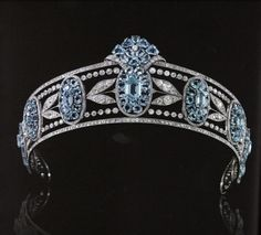 Diamond and aquamarine tiara owned by Lady Hesketh 1890's