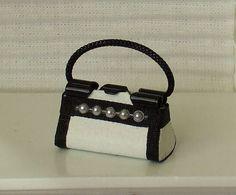Dollhouse Miniature Purse Handbag 1/12th by WhimsyCottageMinis
