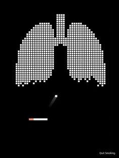 우리가 한번씩은 해본 알카노이드 게임을 금연포스터에 적용하여 담배가 폐를 부시고 있다는것을 표현한게 재밌는것같다. 이것을 친구 현준이와 준서에게 보여주고 싶다.