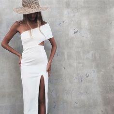 White cutout dress.
