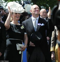 This is how you do it, Harry! Zara and Mike Tindall show off their royal waves to Prince Harry