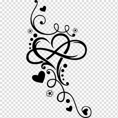 Feb 2020 - Black hearts illustration, Infinity Heart Tattoo Henna T-shirt, arabesque motif transparent background PNG clipart Vine Tattoos, Tattoos Skull, Body Art Tattoos, Small Tattoos, Sleeve Tattoos, Mehndi Drawing, Rose Drawing Tattoo, Heart With Infinity Tattoo, Infinity Tattoos