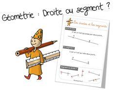 Leçon géométrie : Droite ou segment - Bout de gomme