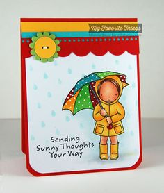 Sunny Thoughts, Blueprints 14 Die-namics, Raindrops Stencil - Michele Boyer #mftstamps