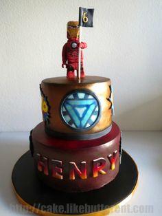 SPIDERMAN IRONMAN LEGO CAKE Cakecupcakescake ball ideas