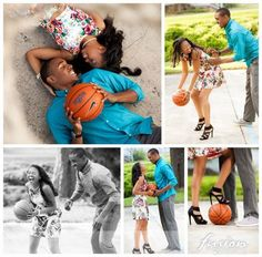 love and basketball engagement photos - Google Search