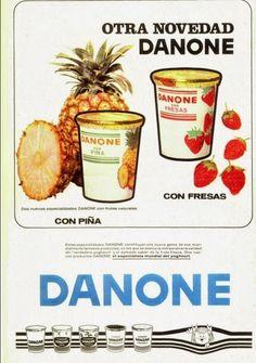 Danone con fresas y pina 1967