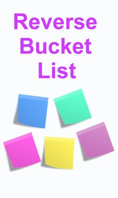 Writing a Reverse Bucket List By Kimaya Kolhe
