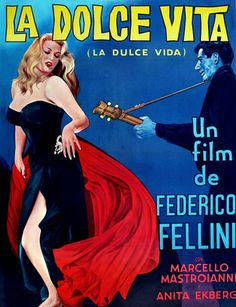 La Dolce Vita, Anita Ekberg, Argentinian Poster Art, 1960 Movies Giclee Print - 30 x 46 cm Classic Movie Posters, Movie Poster Art, Poster S, Classic Films, Poster Maker, Poster Wall, Old Movies, Vintage Movies, Great Movies
