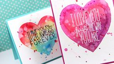 Masked Watercolor Heart Cards – Make a Card Monday #270