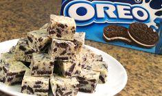 Fudge de Oreo y Chocolate Blanco sin Horno | Solo 3 ingredientes!!