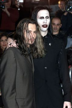 Johnny  Depp & Marilyn Manson  STEPH!!   would like this! My man and your man!