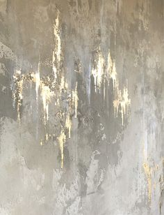 White And Gold Wallpaper, Textured Wallpaper, Textured Walls, Abstract Painting Techniques, Abstract Canvas Art, Wall Decor Design, Gold Walls, My New Room, Painting Inspiration