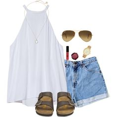 A fashion look from July 2016 featuring A.L.C. tops, Birkenstock sandals and Kate Spade watches. Browse and shop related looks.