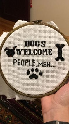 #crossstitch #dogs #Iamnotapeopleperson