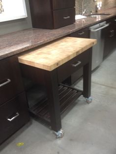 Pull out work station for kitchens w/o a lot of counter space