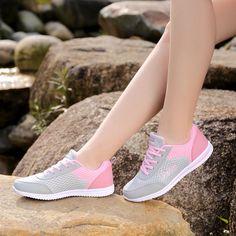 2016 New Summer Zapato Femmes Respirant Maille Zapatillas Chaussures Pour Femmes Réseau Doux Occasionnels Chaussures Appartements Sauvages Casual