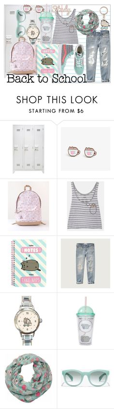 """Pushing For Study Hall"" by styleonapinch on Polyvore featuring Pusheen, Abercrombie & Fitch, Vans and J.Crew"