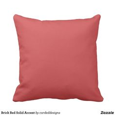 Brick Red Solid Accent Outdoor Pillow