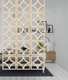 Room Divider Screens for small space Home decoration with hanging screens Wooden screens design