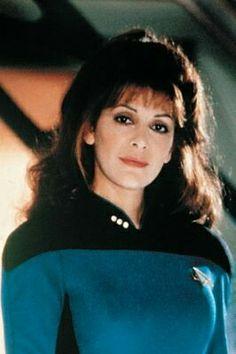 Deanna Troi - Marina Sirtis - Star Trek The Next Generation Star Trek 1, Star Trek Voyager, Star Trek Series, Marina Sirtis, Deanna Troi, Star Trek Images, Star Trek Characters, Star Trek Universe, Love Stars