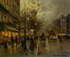 Boulevard a Paris - Edouard Cortes